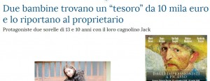 Cocconato: sorelline Giachino trovano 10mila euro e...