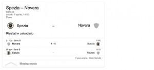 Spezia-Novara, streaming-diretta tv: dove vedere Serie B
