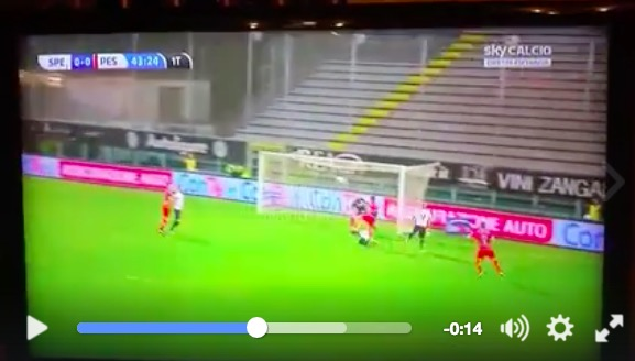 Serie B Spezia-Pescara 0-1 highlights lapadula video gol