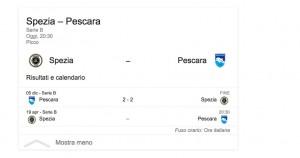 Spezia-Pescara, streaming-diretta tv: dove vedere Serie B