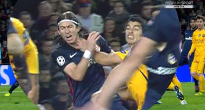 Barcellona-Atletico, Suarez-Filipe Luis: nervi tesi. FOTO_2