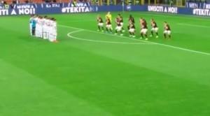 Guarda la versione ingrandita di Milan, haka flop. Pubblico fischia pubblicità VIDEO