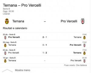Ternana-Pro Vercelli, streaming-diretta tv: dove vedere Serie B