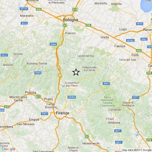 Terremoto vicino Firenze, magnitudo 3.6. Paura al Mugello