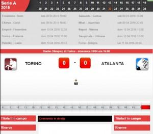 Torino-Atalanta: diretta live serie A su Blitz. Formazioni