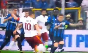 YOUTUBE Francesco Totti gol 3-3 Atalanta-Roma