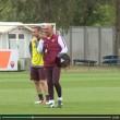 Totti e Spalletti, sorrisi in allenamento dopo lite Bergamo