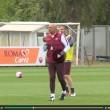 Totti e Spalletti, sorrisi in allenamento dopo lite Bergamo8