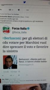 """Berlusconi e il tweet: """"Marchini? Voti buttati"""" FOTO"""