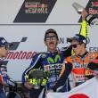 Valentino Rossi, Lorenzo e Marquez (foto Ansa)