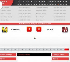 Verona-Milan: diretta live serie A su Blitz