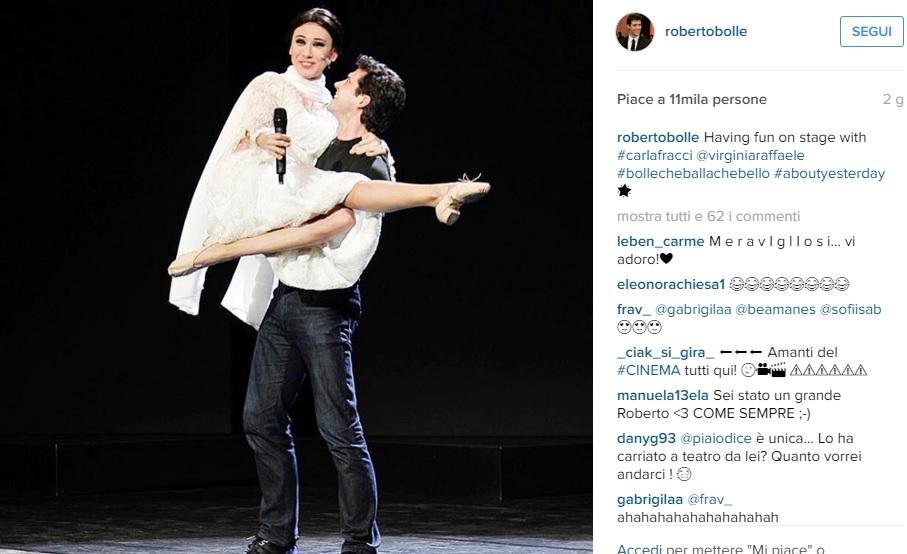 Virginia Raffaele foto con Roberto Bolle e.. fa pieno like 02