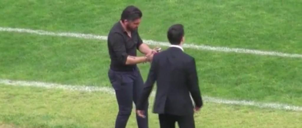 YouTube, Gattuso: manata al suo assistente durante Pisa-Spal_5