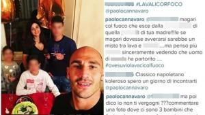 """Paolo Cannavaro, tifoso insulta figli: """"Lavali..."""". Lui..."""
