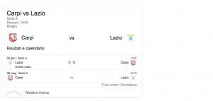 Carpi-Lazio, streaming-diretta tv: dove vedere Serie A