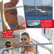 Paola Ferrari, in bikini a Cannes col marito 02