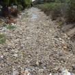 Cambogia, fiume ricoperto di rifiuti: VIDEO drone6