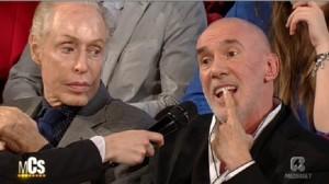 Diego Dalla Palma, noto truccatore televisivo, al Maurizio Costanzo Show