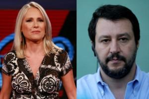 Federica Sciarelli e Matteo Salvini