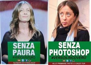 Giorgia Meloni, l'ironia del web per il suo manifesto