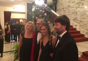 Guarda la versione ingrandita di  Boschi, Dario Franceschini, Roberto Giachetti e Giovanna Melandri (foto Twitter)