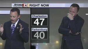 Ragno su schermo meteorologo urla in diretta tv5