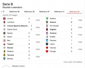 Calendario Play Off.Serie B Playoff Playout Calendario Date Orari Risultati