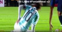 YOUTUBE Lionel Messi infortunio in Argentina-Honduras