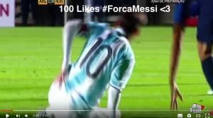 Lionel Messi infortunio in Argentina-Honduras