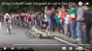 Sonny Colbrelli, caduta Giro Italia VIDEO