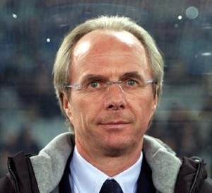 Guarda la versione ingrandita di Sven Goran Eriksson quando allenava la Lazio (foto Ansa)