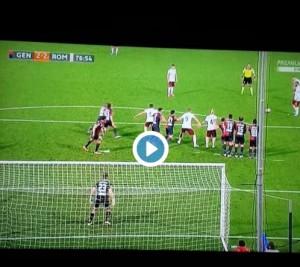 Francesco Totti video gol Genoa-Roma 2-3: punizione-bomba
