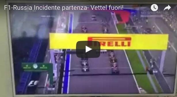 YouTube, Vettel: video incidente Gp Russia Formula 1_5
