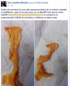 FOTO Compra salsiccia al supermarket, dentro condom usato