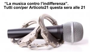 Articolo21, giornalisti in musica: la serata a Roma