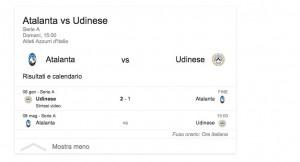 Atalanta-Udinese, streaming-diretta tv: dove vedere Serie A