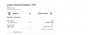 Avellino-Como, streaming-diretta tv: dove vedere Serie B