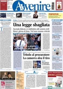 Guarda la versione ingrandita di Unioni civili, Matteo Renzi: le prime pagine dei giornali