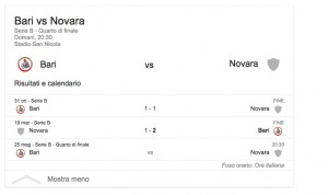 Bari-Novara streaming-diretta tv dove vedere playoff Serie B
