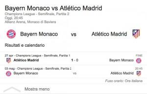 Guarda la versione ingrandita di Bayern-Atletico Madrid: diretta-video gol Champions League su BlitzQuotidiano