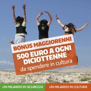 Bonus cultura da 500 euro anche a 18enni extracomunitari