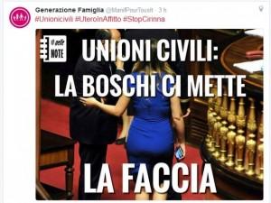 Guarda la versione ingrandita di Family Day contro Maria Elena Boschi: Faccia come il…