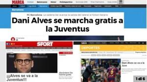 Guarda la versione ingrandita di Calciomercato Juventus, Dani Alves bianconero per tre anni