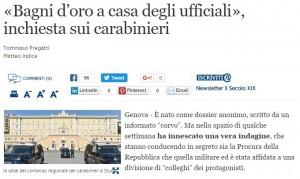 Carabinieri, inchiesta su 2 ufficiali a Genova per un bagno da 50 mila € e una caldaia