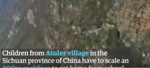 Scalano montagna da 800 metri per andare a scuola