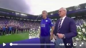 Guarda la versione ingrandita di YouTube, Andrea Bocelli e Claudio Ranieri: festa Leicester