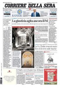 Guarda la versione ingrandita di Pd, Renzi, banche: prime pagine dei giornali