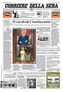 Guarda la versione ingrandita di Elezioni Austria, Maria Elena Boschi: prime pagine 23 maggio