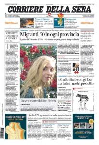 Guarda la versione ingrandita di Migranti, pensioni, Marò: le prime pagine dei giornali