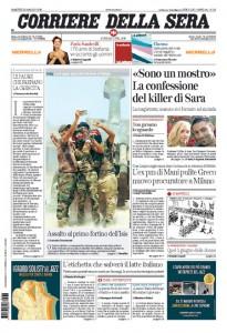 Guarda la versione ingrandita di Sara Di Pietrantonio, elezioni: le prime pagine dei giornali